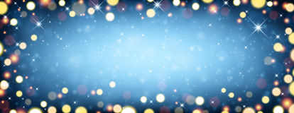 Festive blue luminous background. Vector illustration Royalty Free Stock Photography