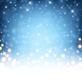 Festive blue luminous background. Vector illustration Royalty Free Stock Photo
