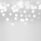 Festive  blur background. Abstract twinkled bright background wi. Th bokeh defocused silver  lights Royalty Free Stock Photography