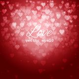 Festive blurred background with bokeh. Form a heart. Vector illustration, eps10 Royalty Free Stock Images