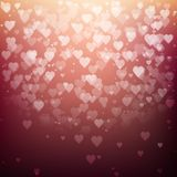 Festive blurred background with bokeh. Form a heart. Vector illustration, eps10 Royalty Free Stock Photos