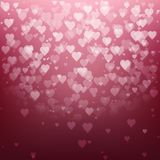 Festive blurred background with bokeh. Form a heart. Vector illustration, eps10 Stock Images