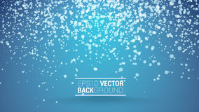 Festive bokeh back blue. Festive blue bokeh vector background for your design Royalty Free Stock Image