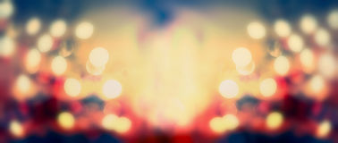 Festive bokeh background , panoramic banner Royalty Free Stock Photos