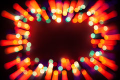 Festive bokeh lights frame Stock Photography