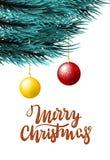 Christmas fluffy tree template Stock Image