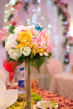 Festive bouquet with decorative butterfly Royalty Free Stock Photo