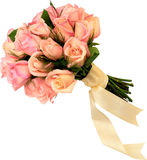 Festive bouquet of pink roses. Stock Photo