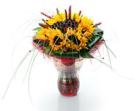 Festive bouquet of sunflowers Stock Images