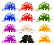 Festive bows. Set of varicoloured festive bows Royalty Free Stock Images