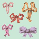 Festive bows. For different holidays Royalty Free Stock Image