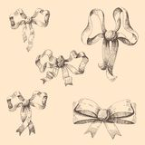 Festive bows. And ribbon. Vector illustration Stock Photography