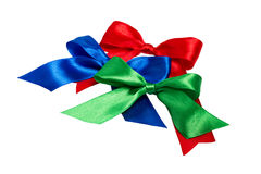 Festive bows made of ribbon Stock Images