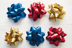 Festive bows Stock Images