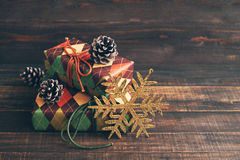 Festive boxes in colourful paper  Stock Photo