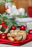 Festive braided bread Royalty Free Stock Images