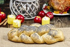 Festive bread with poppy seed Stock Photography