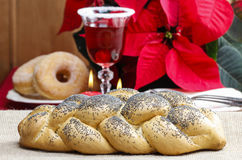 Festive bread on the table Royalty Free Stock Photo