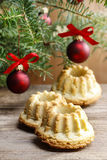 Festive breads under christmas tree. Stock Photography