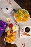 Festive breakfast Stock Image
