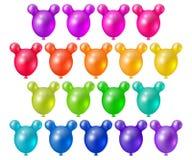 Festive bright balloons. Set of bright festive balls unusual shape, festive design elements Stock Images