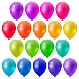 Festive bright balloons. Set a festive bright balloons, festive design elements Royalty Free Stock Photos