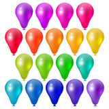 Festive bright balloons. Set a festive bright balloons, festive design elements Stock Photo