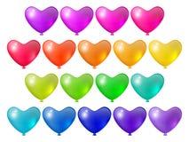 Festive bright balloons. Set of bright festive balloons unusual shape, festive design elements Stock Photos