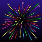Festive bright beautiful banger. Illustration Stock Photography
