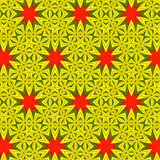 Festive bright orange and Sunny pattern. Vintage ornament. Royalty Free Stock Image