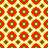 Festive bright orange and Sunny pattern. Vintage ornament. Stock Image