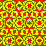 Festive bright orange and Sunny pattern. Vintage ornament. Stock Images