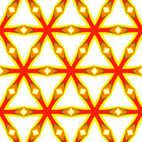 Festive bright orange and Sunny pattern. Vintage ornament. Royalty Free Stock Photography