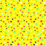Festive and bright pattern of starry night - background for kids parties and celebration. Vector illustration, seamless pattern. royalty free illustration