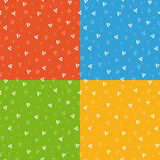 Festive bright triangle geometric seamless pattern Royalty Free Stock Photography