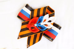 Festive brooch with a St.George's Ribbon Royalty Free Stock Photography
