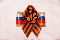 Festive brooch with a St.George`s Ribbon Royalty Free Stock Photography