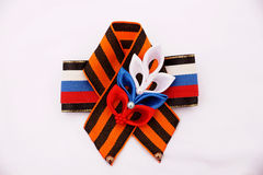 Festive brooch with a St.George`s Ribbon Royalty Free Stock Photo