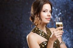 Festive brunette. Royalty Free Stock Images