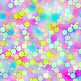 Festive bubbles pattern Stock Image