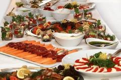 Festive buffet. Buffet with fish and tomato Stock Photo