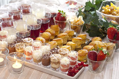 A festive buffet. For a party with pastries and drinks Stock Photography