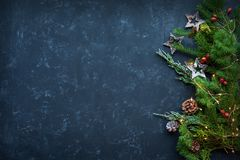 Branched christmas garland