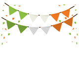 Festive bunting confetti st patrick day. Vector illustration eps 10 Stock Image