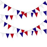 Festive bunting flags. Holiday decorations. Vector illustration. Festive bunting flags. Holiday decorations. Vector illustration Stock Photos
