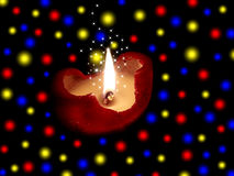 Festive burning candle Stock Photo