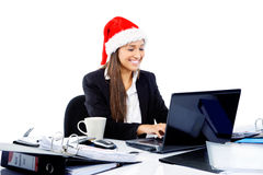 Festive businesswoman Royalty Free Stock Photos