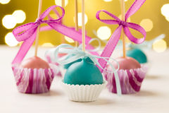 Festive cake pops Royalty Free Stock Photos
