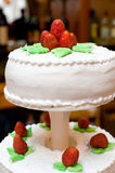 Festive cake with strawberries Stock Photos