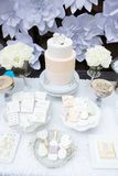Festive cake table display Royalty Free Stock Image